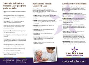 Colorado Palliative & Hospice Care Palliative Care Brochure